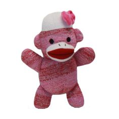 Daisy Mae is the big sister in the sock monkey family.  She attends Banana Elementary School with her brother Joey.