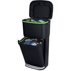Rubbermaid Double Decker 2-in-1 Recycling Modular Bin with LinerLock - Walmart.com