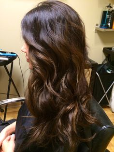 Brunette hair with warm tones