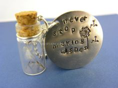 Never Stop Making Wishes Glass Jar Necklace by WhisperingRainbows, $15.00
