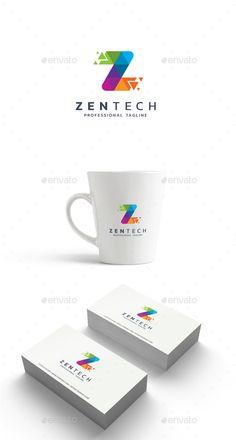 Letter Z - Zen Tech Logo Template Vector EPS, AI Illustrator