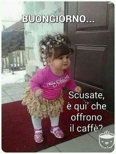 Italian Memes, Funny Pins, Cute Kids, Vignettes, Good Morning, Cute Pictures, Crochet Hats, Emoticon, Gaia