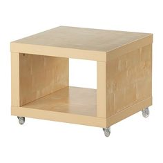 LACK Side table on casters - birch effect - IKEA
