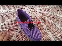 (25) Emelce Patik Modeli (floş iple ayakkabı yapımı ) - YouTube