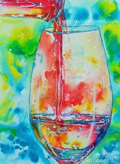 """Party Started"" Original Hand Painting by Jen Callahan - Jen Callahan Artwork - Coastal Colors™"