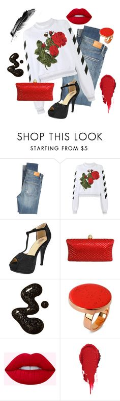 """Rose Red"" by chicastic ❤ liked on Polyvore featuring Citizens of Humanity, Off-White and STELLA McCARTNEY"
