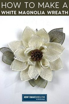 If you're looking for an easy DIY craft project, then consider making a magnolia flower wreath like this one! This is so simple with just a few supplies like burlap mesh, zip ties, scissors, pine cone, and a UITC flower board. Find out how to make it with our step-by-step instructions on our blog!