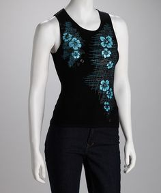 Take a look at this Ebene Black Orna Silk Sleeveless Top by Lizzie Parker, Ebene & Nina Leonard on #zulily today!