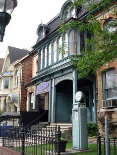 Large Victorian homes converted into upscale office in Cabbagetown, Toronto, Canada Pedestrian Bridge, Downtown Toronto, University Of Toronto, Toronto Canada, Victorian Homes, Ontario, Places Ive Been, The Good Place, The Neighbourhood