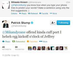 (100+) patrick stump tweets | Tumblr