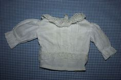 White Blouse for Bisque Dolls Late 1800's