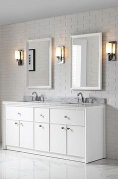 Kick Off Your Spring Home Refresh With A Bathroom Makeover Using The Martha Living Parrish Bath Vanity Collection At Pictured Here Two Framed