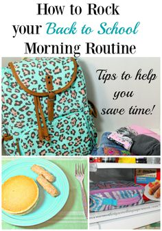 AD: Tips and tricks to help you rock your back to school morning routine. #ReimagineYourRoutine