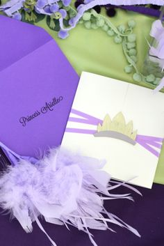 PRINCESS AND THE FROG Birthday invitation envelope
