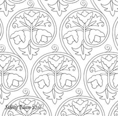 Freehand blackwork embroidery patterns, all appropriate for 16th and early 17th century style freehand blackwork