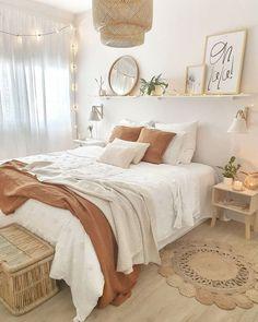 Room Ideas Bedroom, Small Room Bedroom, Home Decor Bedroom, Bedroom Inspo, Bohemian Bedroom Decor, Bedroom Decor Natural, Boho Bed Room, Girls Bedroom, Boho Teen Bedroom