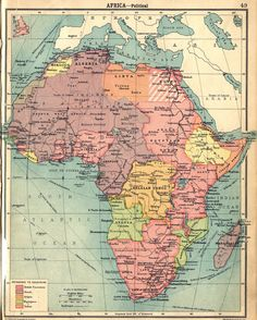 Southwest Africa map1922 - British holdings in pink