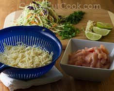 Chicken & Veggie Noodle Bowl w/ Peanut Sauce