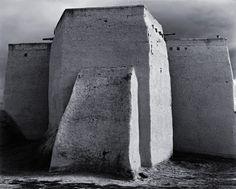 Ansel Adams, Saint Francis Church, Ranchos de Taos, New Mexico, 1950.