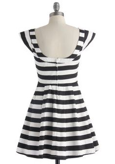 Monochrome for the Weekend Dress, #ModCloth