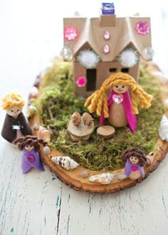This Magical Fairy House is the perfect kids' craft for open-ended creativity that's loaded with tons of imaginative fun you can do together! See what fun nature items your kids can use with all their craft supplies.