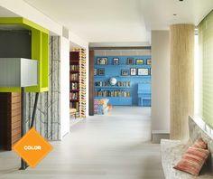 ¡Un abanico de sensaciones! Aplica un color diferente en cada espacio de tu hogar. Aquí tenemos más ideas para decorar