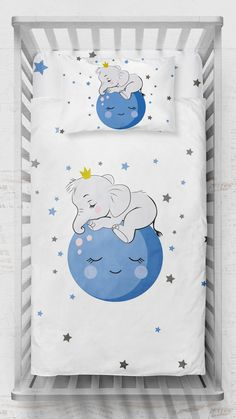 Baby Duvet, Cot Bedding, Duvet Sets, Duvet Cover Sets, Rainbow Bedding, Elephant Balloon, Custom Baby Bedding, Baby Sheets, Personalized Baby