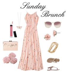 Sunday Brunch by stephanie-in-love on Polyvore featuring Abercrombie & Fitch, BCBGMAXAZRIA, Thalia Sodi, 1928, Alex Monroe, Linda Farrow, Bare Escentuals and National Tree Company