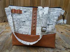 SALE Traveler bag,ready to ship,World Map messenger bag,One-of-a-kind, sac vegan, laptop work bag for women, vegan purse, tote, gift for her