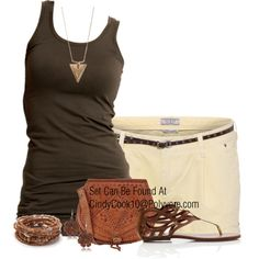 Summer Browns, created by cindycook10 on Polyvore