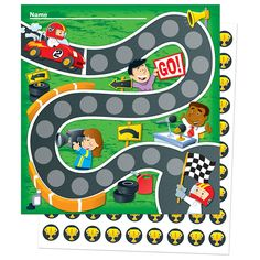 Racing Mini Incentive Charts - x charts per pack - 630 coordinating stickers - Great for tracking student progress, charting completed assignments, rewarding positive behavior, motivating students to reach goals, and playing games Reward Chart Kids, Kids Rewards, Incentive Charts, Incentive Ideas, Rewards Chart, Positive Behavior, Behavior Goals, Tracking Student Progress, Vip Kid