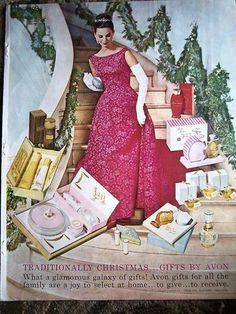 1961 Traditionally Christmas Gifts By Avon Perfume Make Up Cosmetics Ad