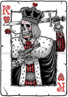 Card Tattoo Designs, Tattoo Design Drawings, Tattoo Sketches, Playing Card Tattoos, Playing Cards Art, King Tattoos, Body Art Tattoos, Joker Card Tattoo, King Card