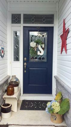 Love my front door. Benjamin Moore  old navy
