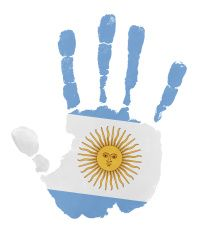 Best Patriotism Handprint Fourth Of July Flag Illustrations, Royalty-Free Vector Graphics & Clip Art Argentina Flag, Free Vector Graphics, Toddler Activities, Fourth Of July, Alphabet, Crafts For Kids, Clip Art, Stickers, Illustration