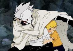 Anbu Kakashi and Naruto.♥