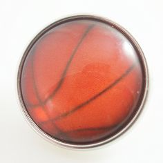 Basketball Glass Button Bead Noosa Snap On Charm Chunk 20mm – Your Charmed Story