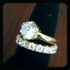 Desert Diamonds set in 18k Solid Yellow gold!!