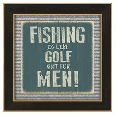 Reflective Art Deco and Wood Fishing Is Like Golf. Artwork is mounted on wooden that is cut and routed to resemble individual boards. Rustic Lodge Decor, Wood Art, Fishing, Art Deco, Boards, Golf, Artwork, Home Decor, Planks