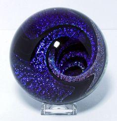 Joe Winterbower - Handmade Contemporary Art Glass Marble 38 in 2020 Art Of Glass, Blown Glass Art, Glass Artwork, Fused Glass, Stained Glass, Marble Art, Murano, Glass Marbles, Glass Paperweights