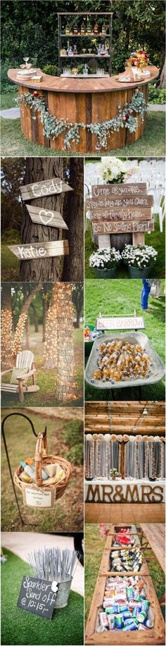 From hanging wood palette signs to displays of dripping ribbon, this decoration inspiration has everything from your ceremony to reception covered. With these 20+ Genius Outdoor Wedding Idea, your big day is sure to be as charming and dreamy as a fairytale.