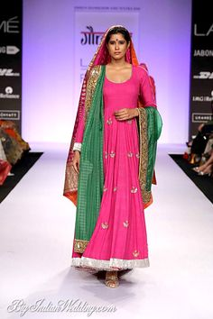 #pink #traditional #ethnic #indian #bridal #colors #green