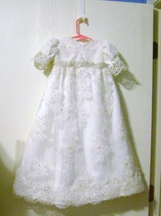 Custom designed Baptism Gown made from your by secondtimememories