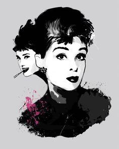 Audrey Hepburn, Tinted Style | http://www.yourpainting.de/motive-artikel/audrey-hepburn