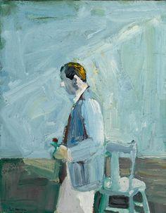 """thunderstruck9: """" Paul Wonner (American, 1920-2008), Man with Flower, 1962. Oil…"""