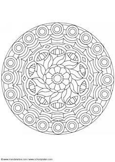 Printable Detailed Mandala Coloring Pages   Coloring page mandala-1602b - img 4501. Colorful Mandalas