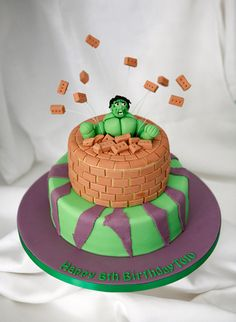 Hulk Cake by The Great Little Food Company, via Flickr