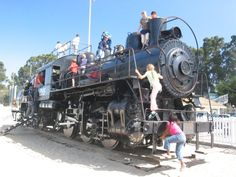 our favourite monterey attraction... the huge-fun danger train at dennis the menace park! close your eyes mom...