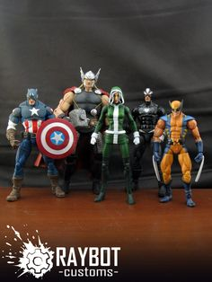 custom Uncanny Avengers action figures by the amazing Fwoosher, Raybot!