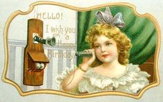 postcardiva postcard blog: Greetings by TELEPHONE Postcards